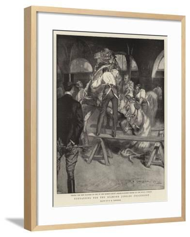 Rehearsing for the Diamond Jubilee Procession-Frederick Henry Townsend-Framed Art Print