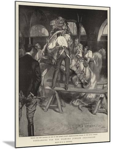 Rehearsing for the Diamond Jubilee Procession-Frederick Henry Townsend-Mounted Giclee Print
