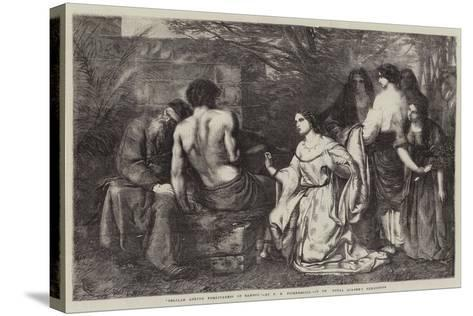 Delilah Asking Forgiveness of Samson-Frederick Richard Pickersgill-Stretched Canvas Print