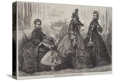 Paris Fashions for April-Frederic Theodore Lix-Stretched Canvas Print