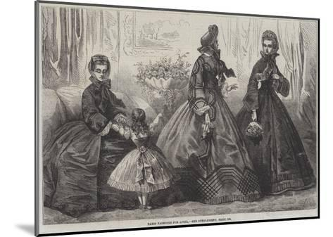 Paris Fashions for April-Frederic Theodore Lix-Mounted Giclee Print