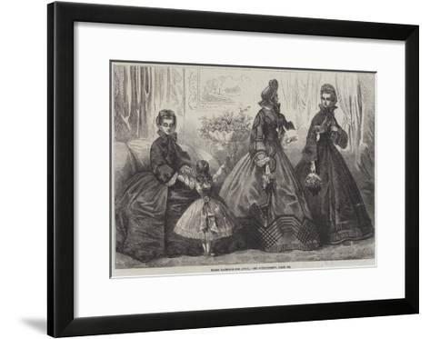 Paris Fashions for April-Frederic Theodore Lix-Framed Art Print