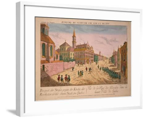 Vuë De La Rue Des Recolets De Quebec, Published C.1770S-Franz Xavier Habermann-Framed Art Print
