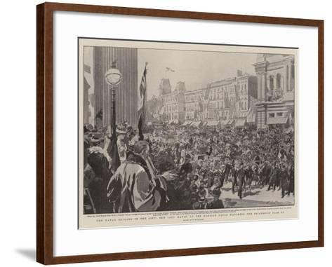 The Naval Brigade in the City, the Lord Mayor at the Mansion House Watching the Procession Pass By-Frederic De Haenen-Framed Art Print