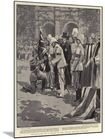 Presentation of a Colour to the Ceylon Mounted Infantry-Frederic De Haenen-Mounted Giclee Print