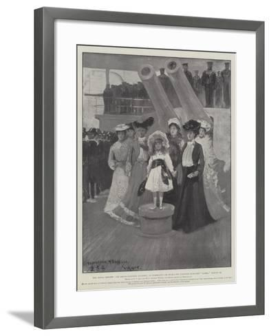 The Naval Review-Fred T. Jane-Framed Art Print