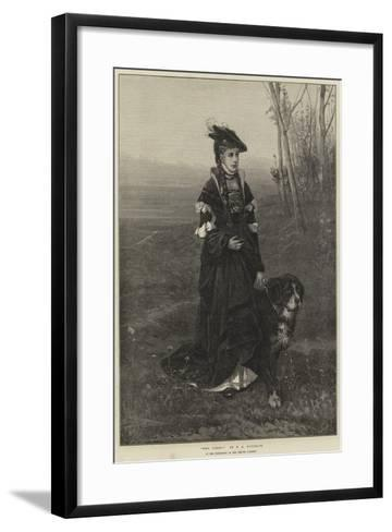 Who Comes?-Frederich August Kaulbach-Framed Art Print