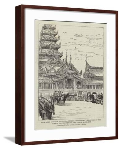 With Lord Dufferin in Burma-Frederic Villiers-Framed Art Print