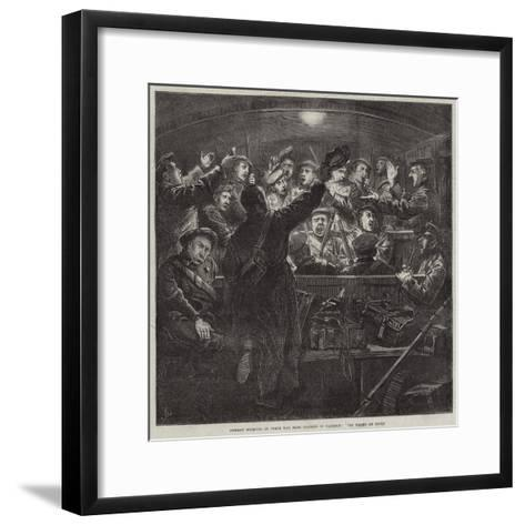 German Recruits on their Way from Cologne to Mayence, Die Wacht Am Rhein-Frederick Barnard-Framed Art Print