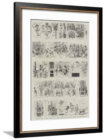 Precocious Peter; Or, What Became of the Naughty Little Boy Who Would Go Behind the Scenes-Frederick Barnard-Framed Art Print