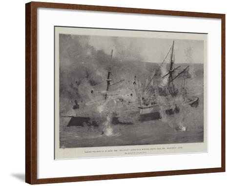 Target Practice Up to Date, the Belleisle after Four Minutes' Firing from the Majestic'S Guns-Fred T. Jane-Framed Art Print