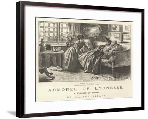 Armorel of Lyonesse, a Romance of To-Day-Frederick Barnard-Framed Art Print