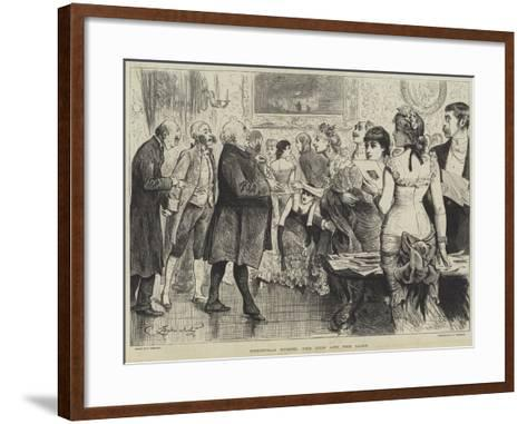 Christmas Guests, the Lion and the Lamb-Frederick Barnard-Framed Art Print