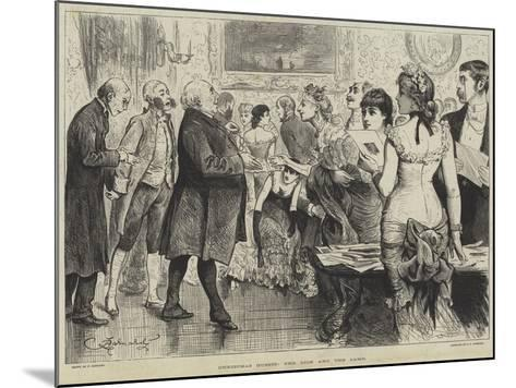 Christmas Guests, the Lion and the Lamb-Frederick Barnard-Mounted Giclee Print