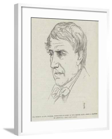 Sir Edmund Lyons, Admiral Commanding-In-Chief of the British Navy-Frederick John Skill-Framed Art Print