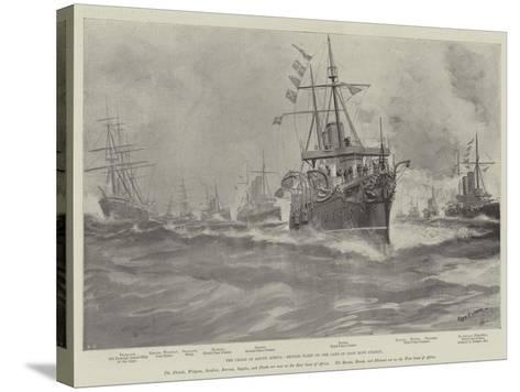 The Crisis in South Africa, British Fleet on the Cape of Good Hope Station-Fred T. Jane-Stretched Canvas Print