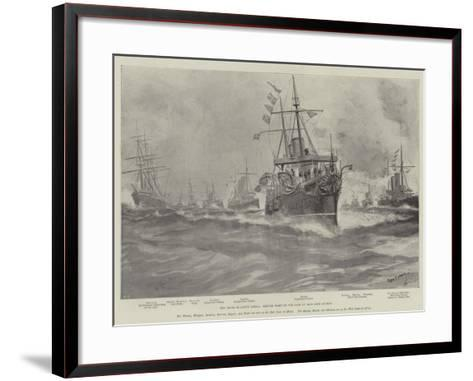 The Crisis in South Africa, British Fleet on the Cape of Good Hope Station-Fred T. Jane-Framed Art Print