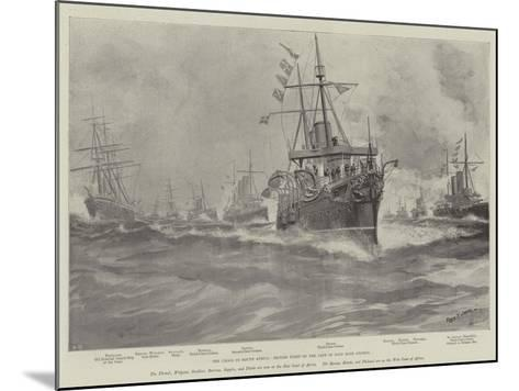 The Crisis in South Africa, British Fleet on the Cape of Good Hope Station-Fred T. Jane-Mounted Giclee Print