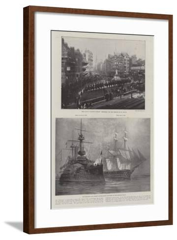 The Queen's Diamond Jubilee-Fred T. Jane-Framed Art Print