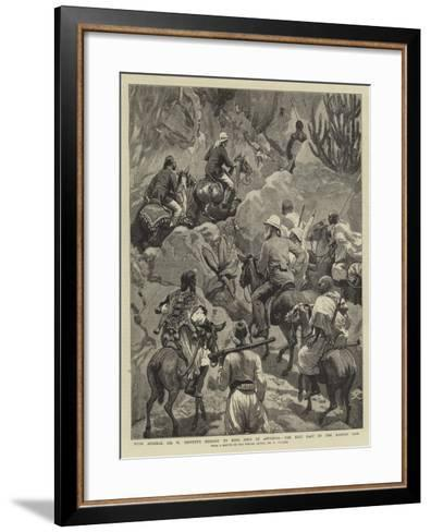 With Admiral Sir W Hewett's Embassy to King John of Abyssinia, the Best Part of the Maiensi Pass-Frederic Villiers-Framed Art Print