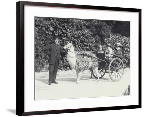 Three Visitors Including a Young Boy-Frederick William Bond-Framed Art Print