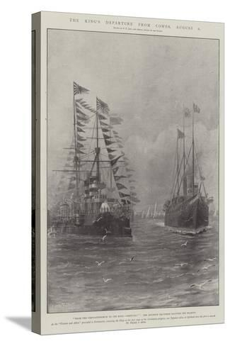 The King's Departure from Cowes, 6 August-Fred T. Jane-Stretched Canvas Print