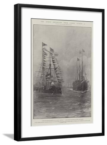The King's Departure from Cowes, 6 August-Fred T. Jane-Framed Art Print