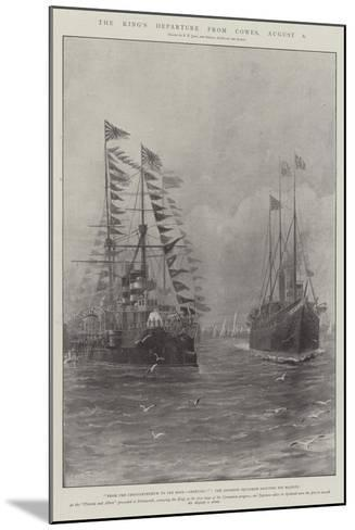 The King's Departure from Cowes, 6 August-Fred T. Jane-Mounted Giclee Print