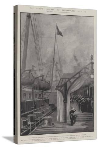 The King's Journey to Portsmouth, 15 July-Fred T. Jane-Stretched Canvas Print