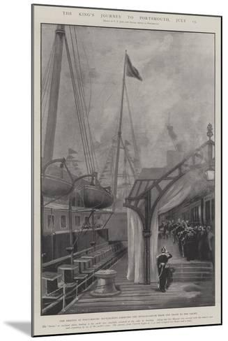The King's Journey to Portsmouth, 15 July-Fred T. Jane-Mounted Giclee Print