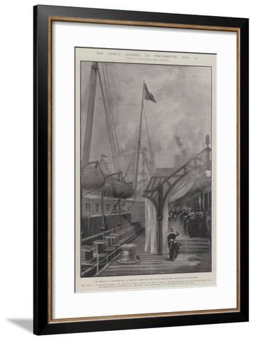 The King's Journey to Portsmouth, 15 July-Fred T. Jane-Framed Art Print
