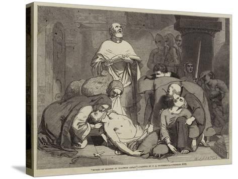 Burial of Harold at Waltham Abbey-Frederick Richard Pickersgill-Stretched Canvas Print