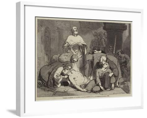 Burial of Harold at Waltham Abbey-Frederick Richard Pickersgill-Framed Art Print