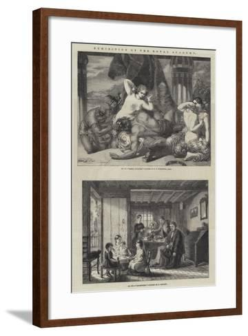 Exhibition of the Royal Academy-Frederick Richard Pickersgill-Framed Art Print