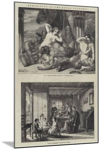 Exhibition of the Royal Academy-Frederick Richard Pickersgill-Mounted Giclee Print