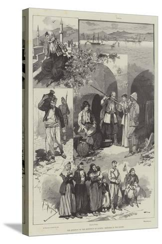 The Question of the Retention of Cyprus, Sketches in the Island-Frederic De Haenen-Stretched Canvas Print