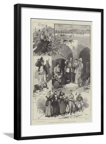 The Question of the Retention of Cyprus, Sketches in the Island-Frederic De Haenen-Framed Art Print