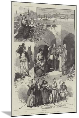The Question of the Retention of Cyprus, Sketches in the Island-Frederic De Haenen-Mounted Giclee Print