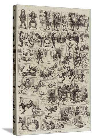 Mr Titbury's Turkey-Frederick Barnard-Stretched Canvas Print
