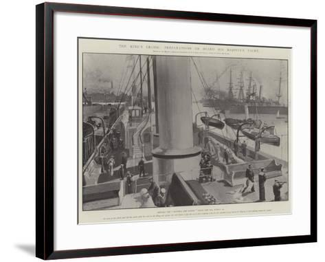 The King's Cruise, Preparations on Board His Majesty's Yacht-Fred T. Jane-Framed Art Print
