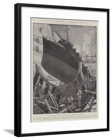A Test of the Seaworthiness of Torpedo-Boat Destroyers-Fred T. Jane-Framed Art Print