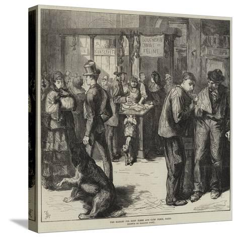 The Market for Dogs' Flesh and Cats' Flesh, Paris-Frederick Barnard-Stretched Canvas Print
