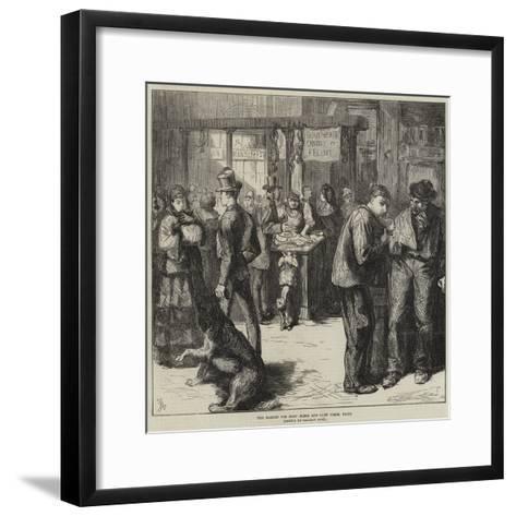 The Market for Dogs' Flesh and Cats' Flesh, Paris-Frederick Barnard-Framed Art Print
