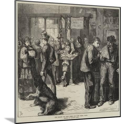 The Market for Dogs' Flesh and Cats' Flesh, Paris-Frederick Barnard-Mounted Giclee Print