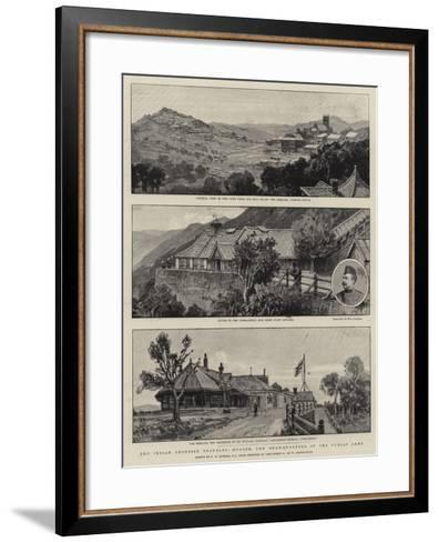 The Indian Frontier Troubles, Murree, the Head-Quarters of the Punjab Army-Frederick George Cotman-Framed Art Print
