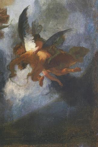 Angels-Franz Anton Maulbertsch-Stretched Canvas Print