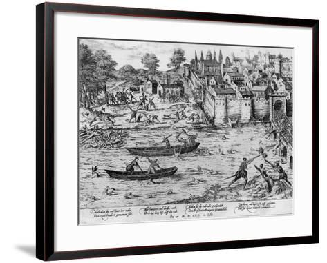The Massacres of Tours, July 1562-Franz Hogenberg-Framed Art Print