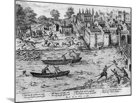 The Massacres of Tours, July 1562-Franz Hogenberg-Mounted Giclee Print