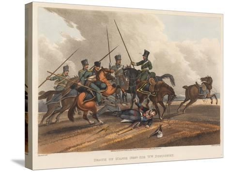 Death of Major General Sir William Ponsonby, Engraved by M. Dubourg, 1819 (Coloured Aquatint)-Franz Joseph Manskirch-Stretched Canvas Print