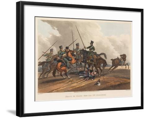 Death of Major General Sir William Ponsonby, Engraved by M. Dubourg, 1819 (Coloured Aquatint)-Franz Joseph Manskirch-Framed Art Print